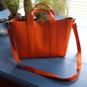 GAP Leather Mini Tote 14x10 with removable cotton